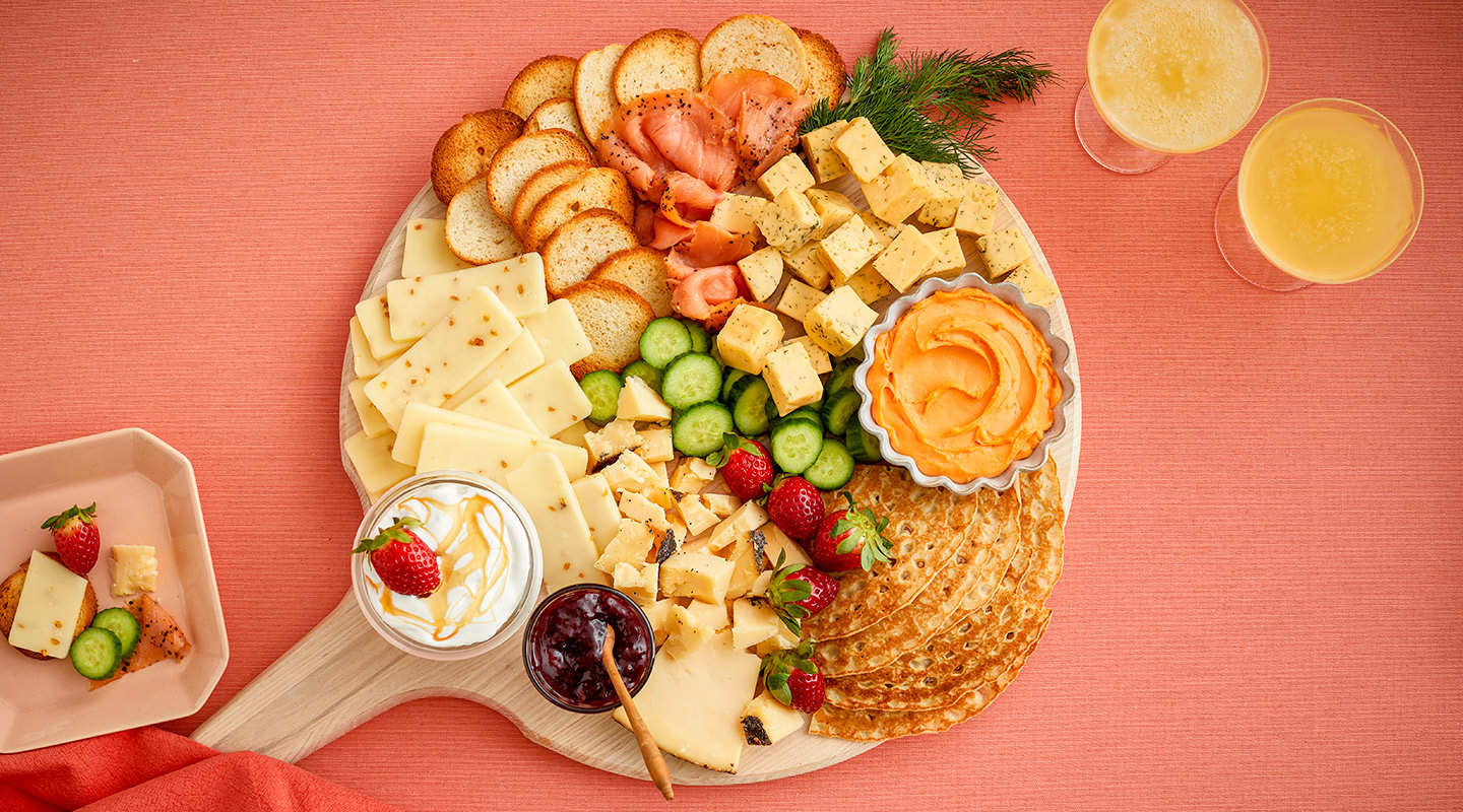Wisconsin Cheese Sweet and Savory Brunch Cheeseboard Recipe