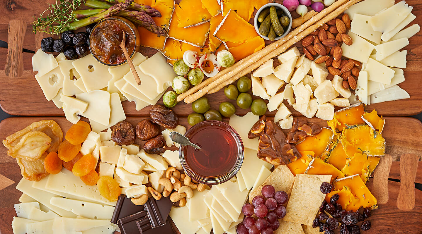 Wisconsin Cheese Sweet and Savory Cheeseboards Recipe