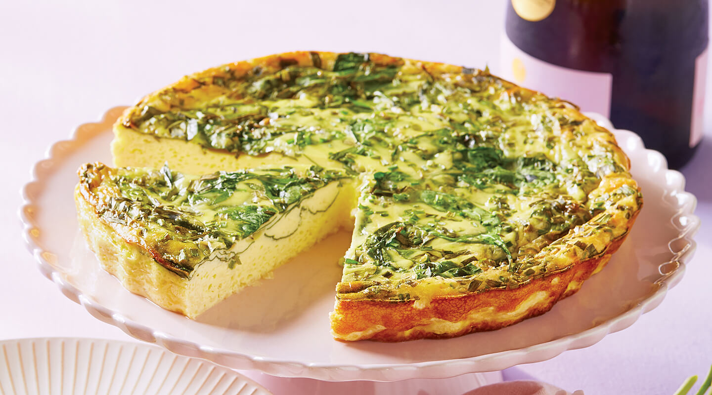 Wisconsin Cheese Swiss and Spinach Crustless Quiche Recipe