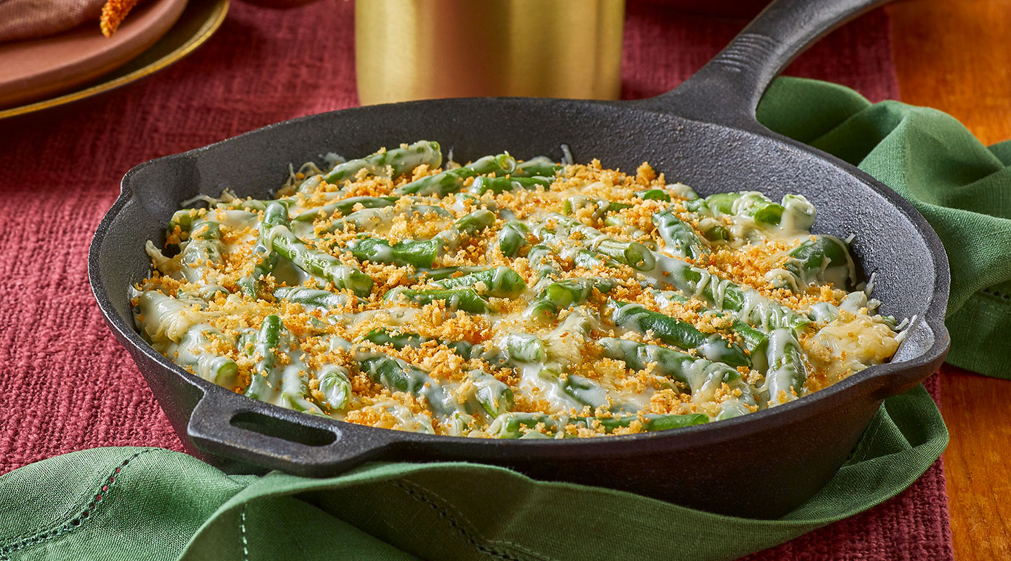 Wisconsin Cheese Alpine-Style Green Bean Casserole Recipe