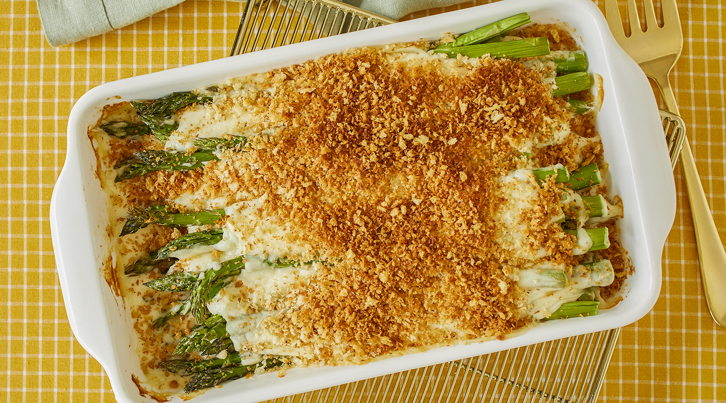 Wisconsin Cheese Baked Asparagus au Gratin Recipe