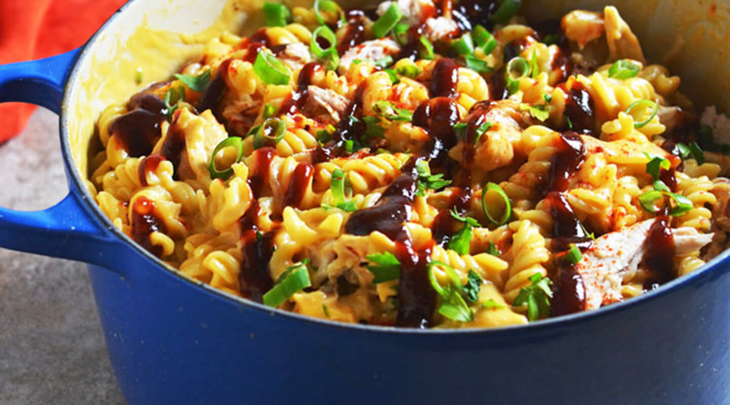 Wisconsin Cheese Barbecue Chicken Mac and Cheese recipe