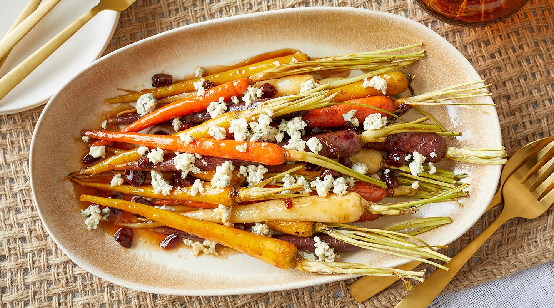 Wisconsin Cheese Bourbon-Glazed Carrots with Gorgonzola Recipe