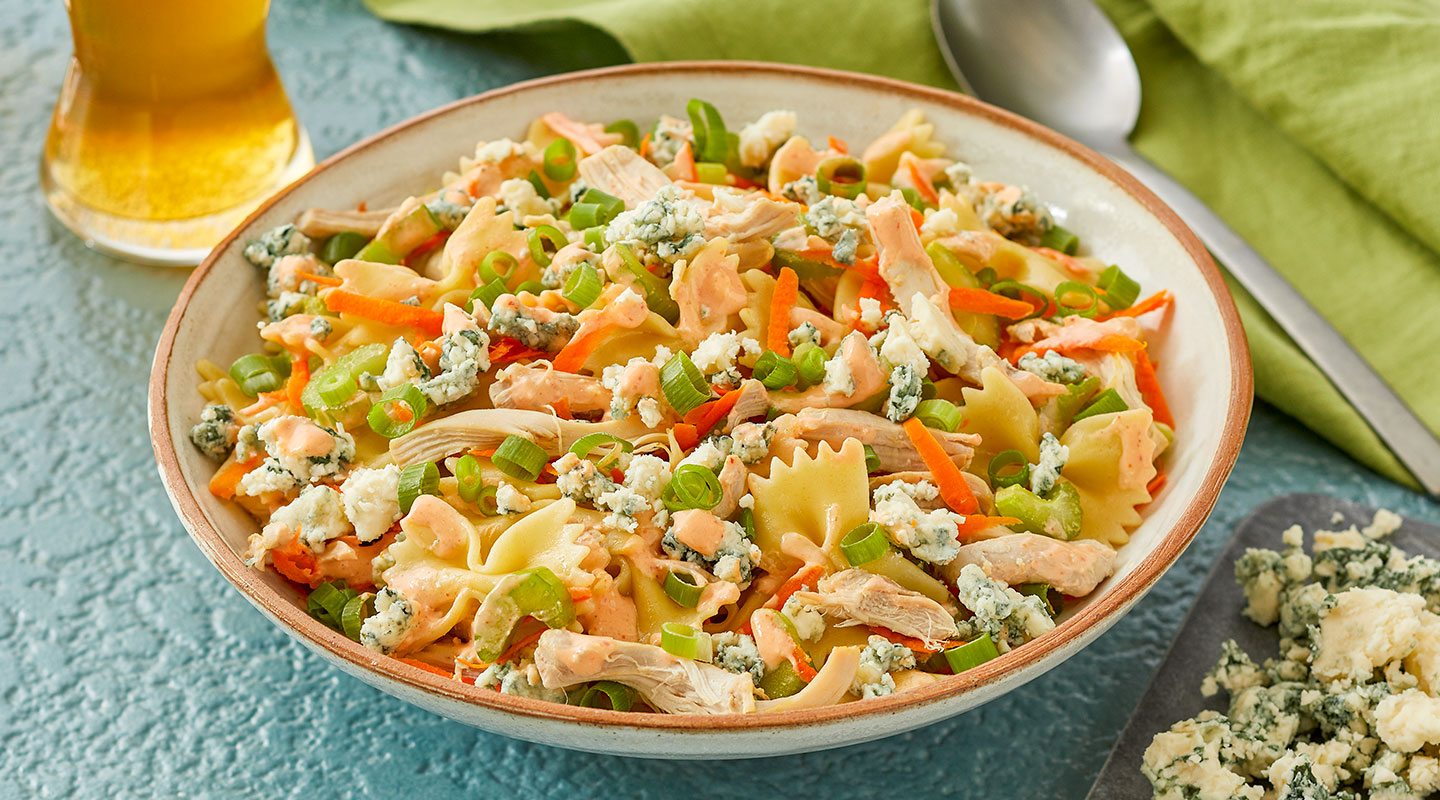 Wisconsin Cheese Buffalo Chicken Pasta Salad Recipe