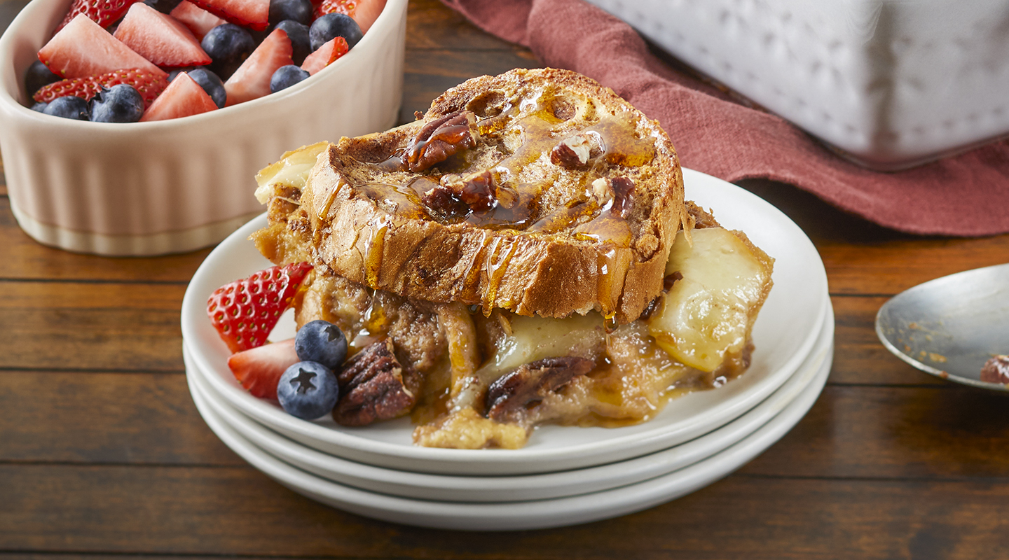 Wisconsin Cheese Caramel Cheddar French Toast Bake Recipe