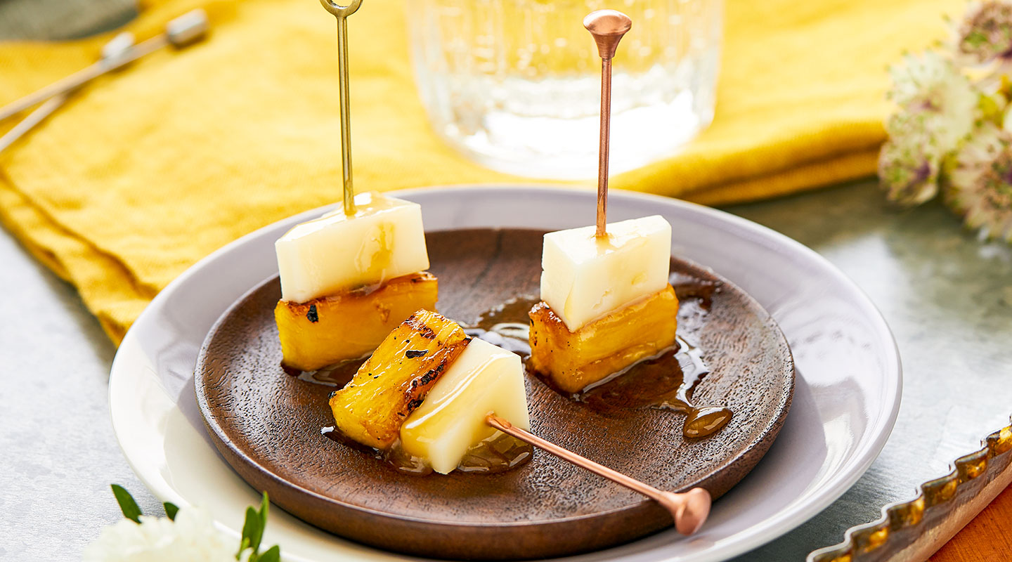 Wisconsin Cheese Caramelized Pineapple Picks recipe