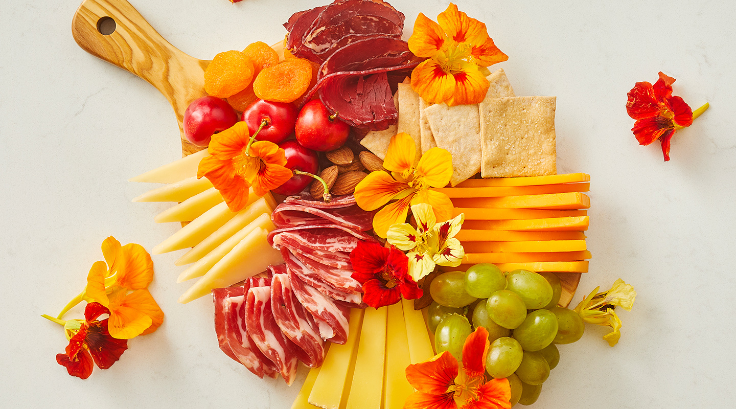 Wisconsin Cheese Colorful Floral Cheese Board  Recipe