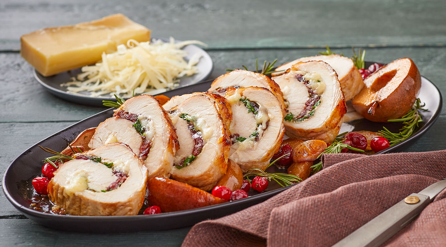 Wisconsin Cheese Rolled Cranberry-Cheese Pork Loin  Recipe