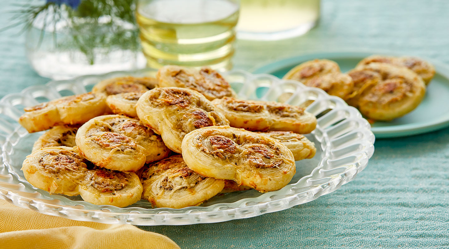 Wisconsin Cheese Flaky Parmesan Palmiers recipe