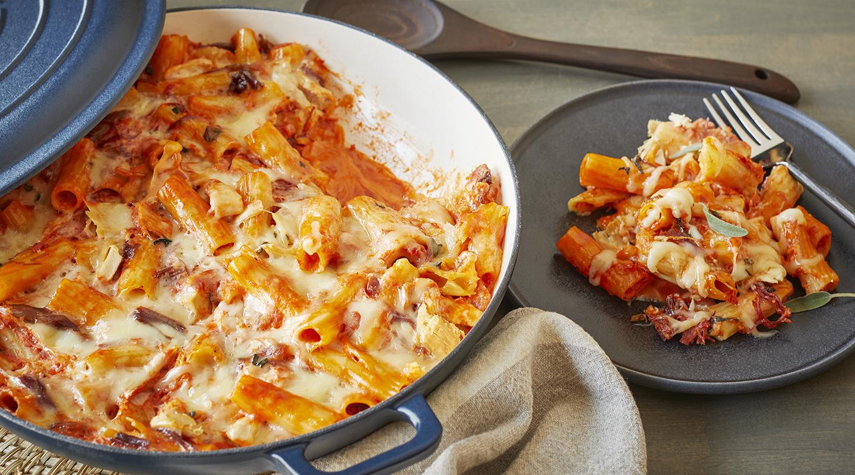 Wisconsin Cheese Creamy Fontina-Turkey Pasta Bake Recipe