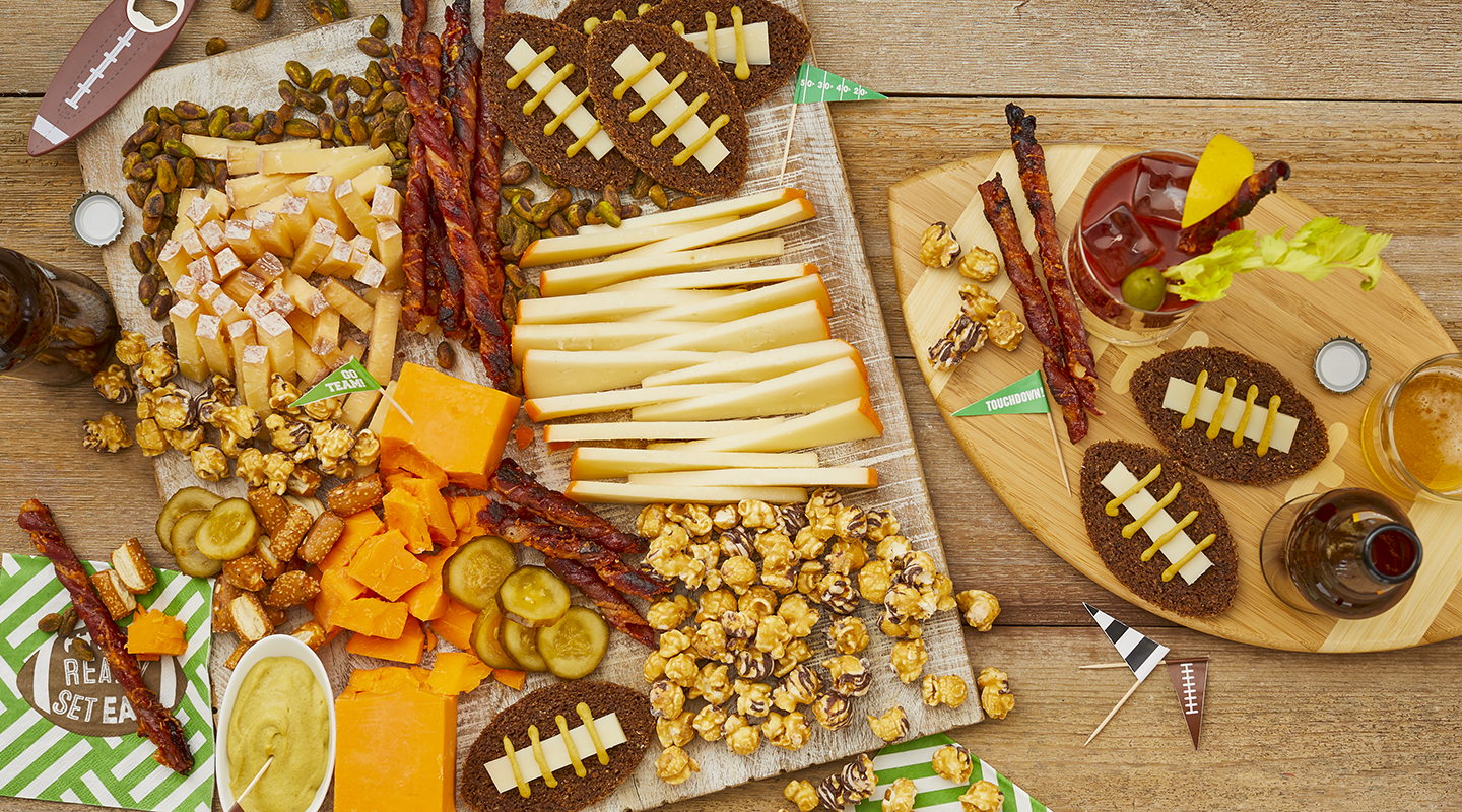 Football Game Cheese Board