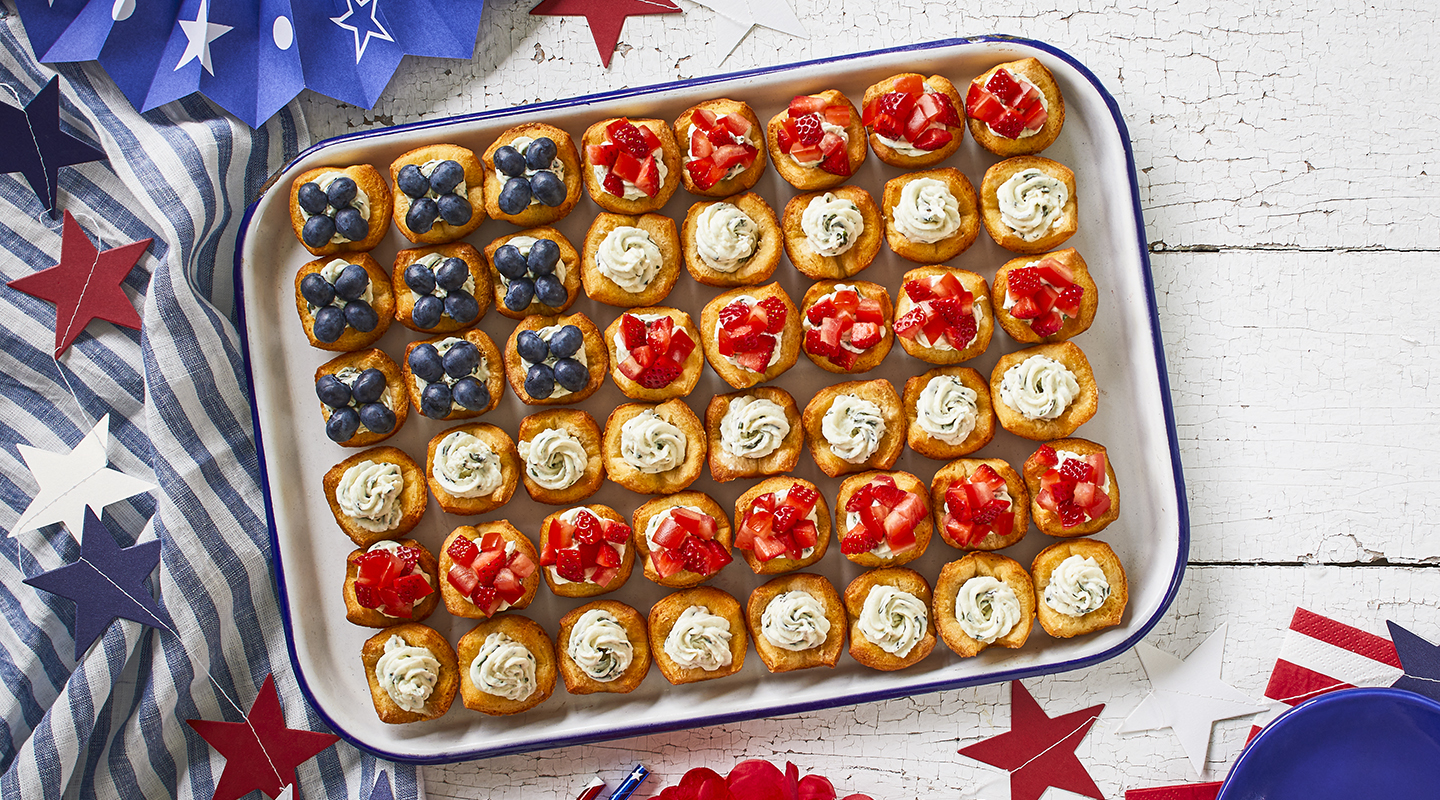 Wisconsin Cheese Fourth of July Appetizer Tartlets Recipe