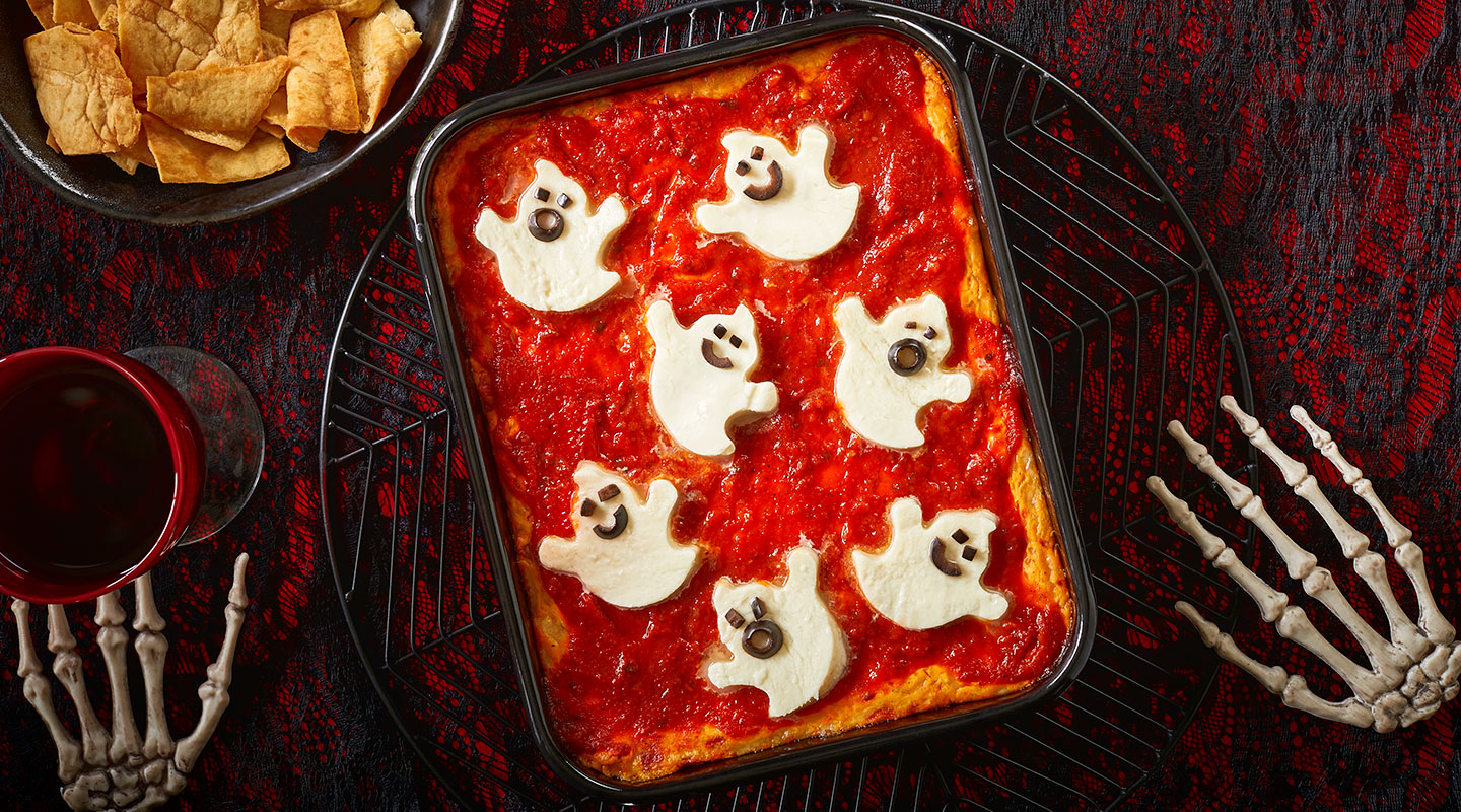 Wisconsin Cheese Fresh Mozzarella Ghost Pizza Dip recipe