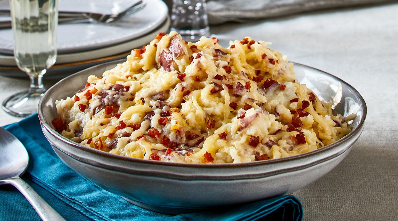 Wisconsin Cheese Gouda-Pancetta Smashed Potatoes Recipe