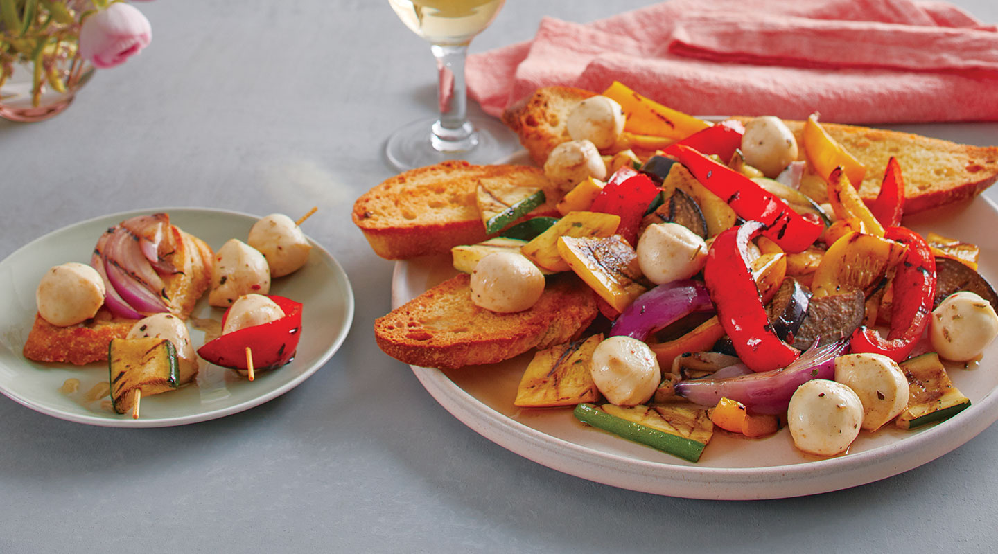 Wisconsin Cheese Grilled Vegetable Antipasto Salad Recipe