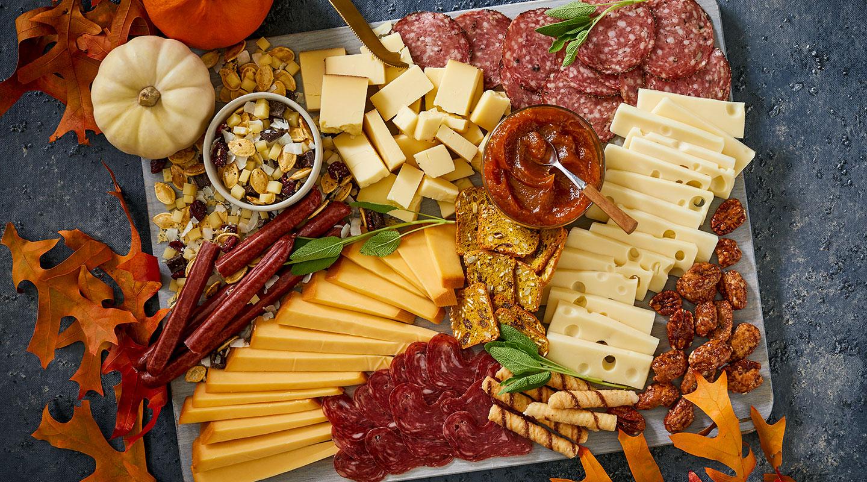 Harvest Pumpkin Cheese Board