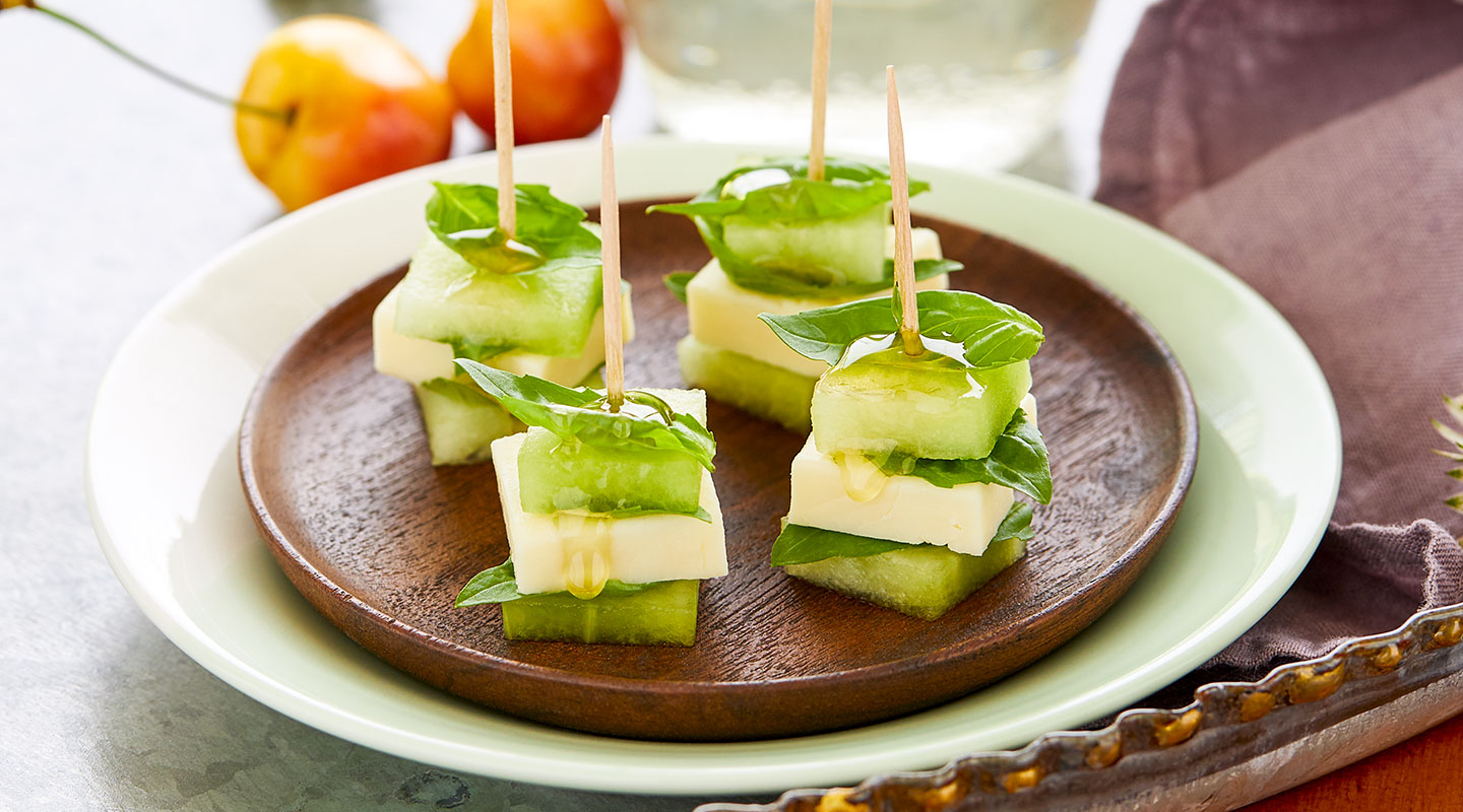 Wisconsin Cheese Havarti-Honeydew Stacks Recipe