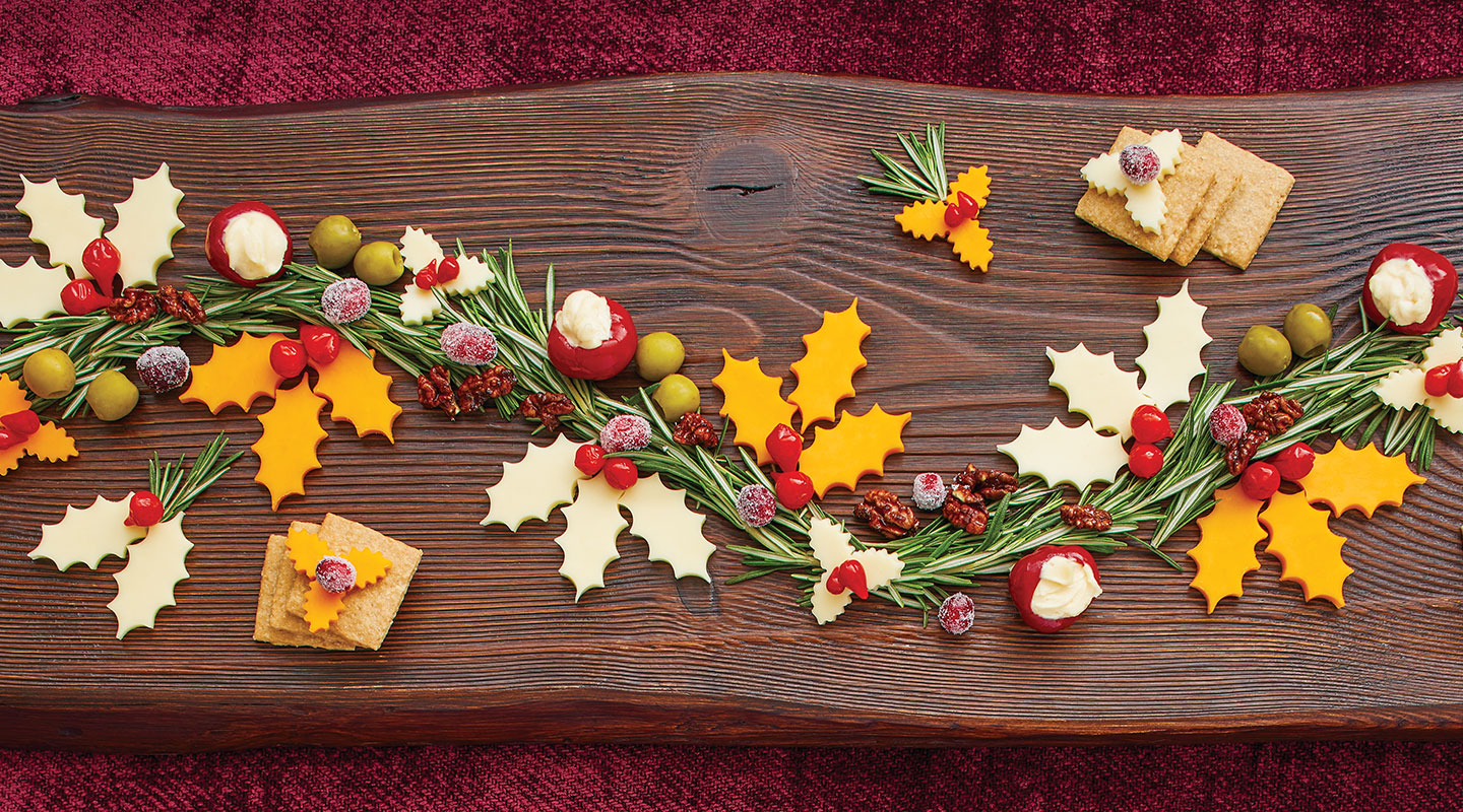Wisconsin Cheese Holiday Garland Cheese Board Recipe