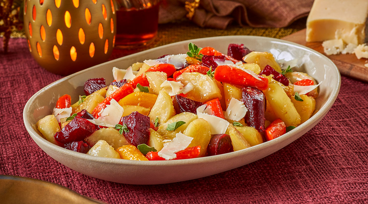 Wisconsin Cheese Honey-Glazed Root Vegetables Recipe