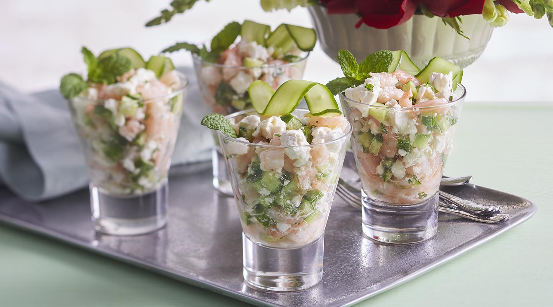 Wisconsin Cheese Marinated Shrimp, Feta and Cucumber Salad  Recipe