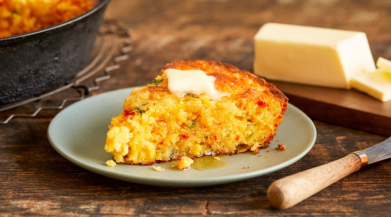 Wisconsin Cheese Mexican Skillet Corn Bread Recipe
