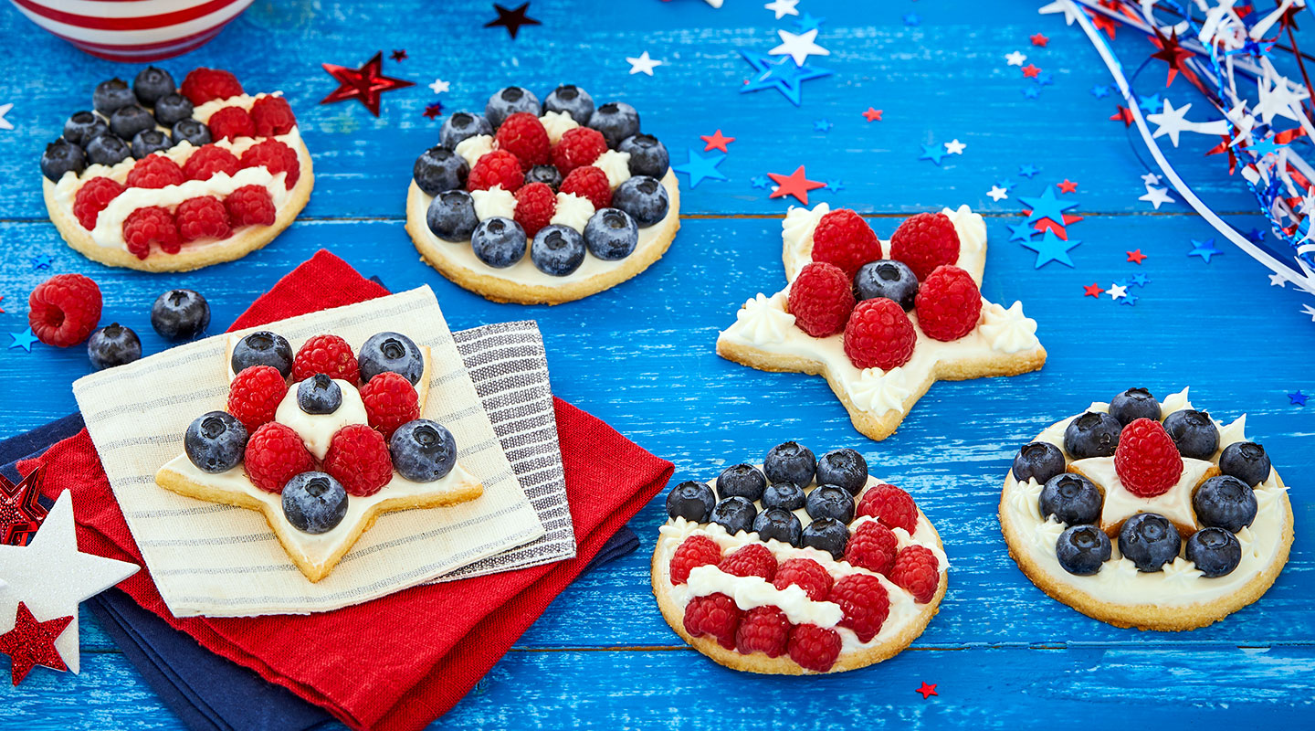 Wisconsin Cheese Mini Flag Fruit Pizzas Recipe
