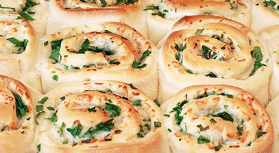 parmesan-cheddar scallion buns