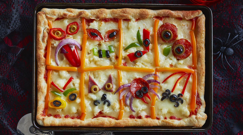 Scary Halloween Pizza
