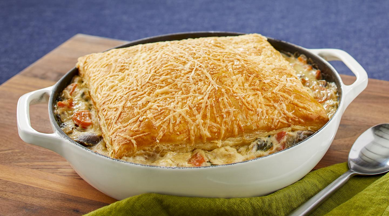 Wisconsin Cheese Skillet Chicken Potpie Recipe