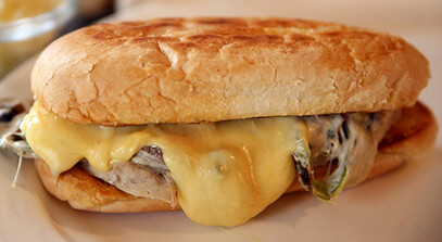 Spicy Mushroom Torta with Queso Quesadilla Cheese