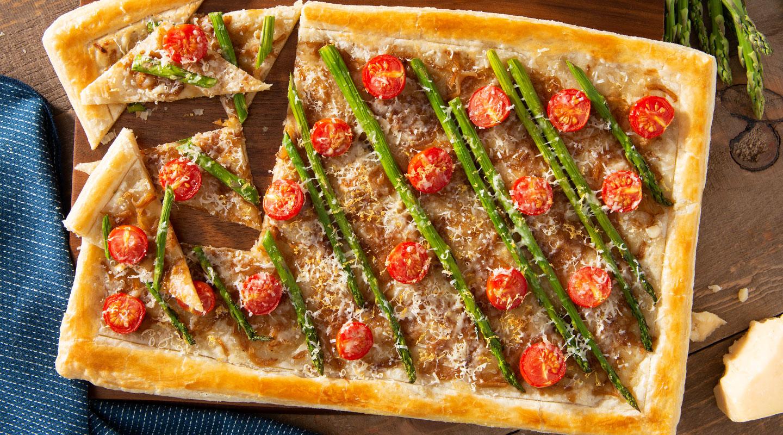Wisconsin Cheese Spring Asparagus-Parmesan Tart Recipe