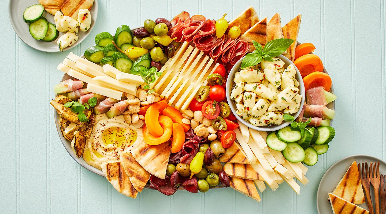 Wisconsin Cheese Summer Mezze Platter  Recipe