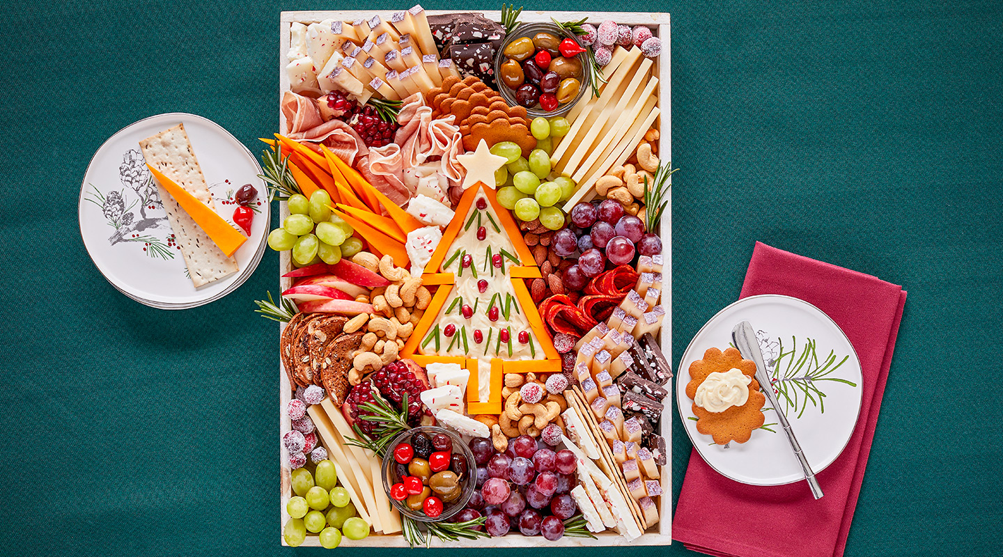 Wisconsin Cheese Trim-a-Tree Holiday Cheese Board  Recipe